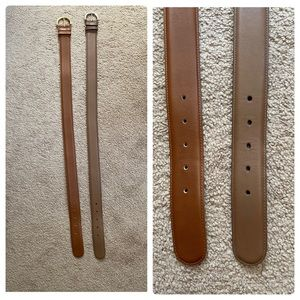 COACH Brown/Nude Leather Women's Belts 🤎